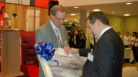 Richard Ball accepting his 40-year award in 2008 Picture: GLASSWELLS