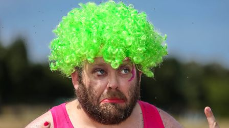 The bright green wig worn by one Race For Life fundraiser proved highly attractive to the beetles P