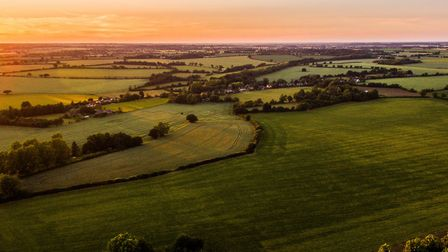 Stunning Alpheton drone picture Picture: MARK TURNBULL