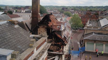 The destruction at Cupola House following a fire in 2012 Picture: MARIAM GHAEMI