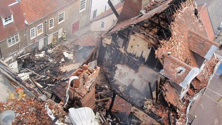 The damage at Cupola House following the 2012 blaze Picture: MARIAM GHAEMI
