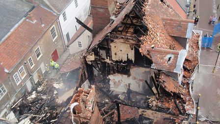 Cupola House seen from above after the building caught fire in 2012 Picture: MARIAM GHAEMI