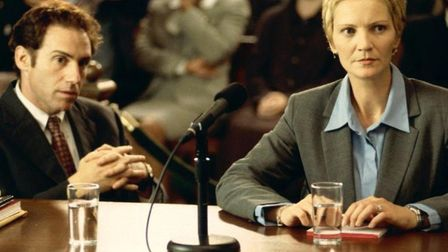 Joan Allen as Senator Laine Hanson being examined by a congressional committee about her suitability