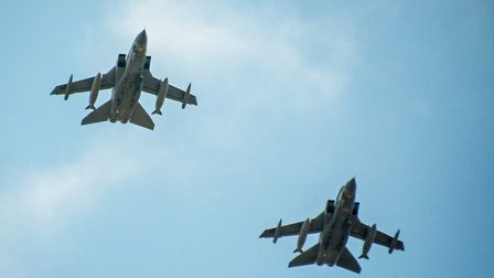 A picture from the Queen's birthday fly past Picture:TARKEY