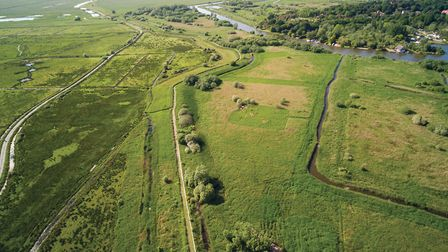 Drone image of Carlton Marshes