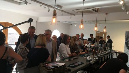 People attending the launch of the World War 1 Trail at the Greene King Beer Cafe. Picture: RUSSELL