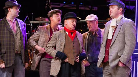 The costermongers of Covent Garden in the IODS production of My Fair Lady. Photo: Mike Kwasniak