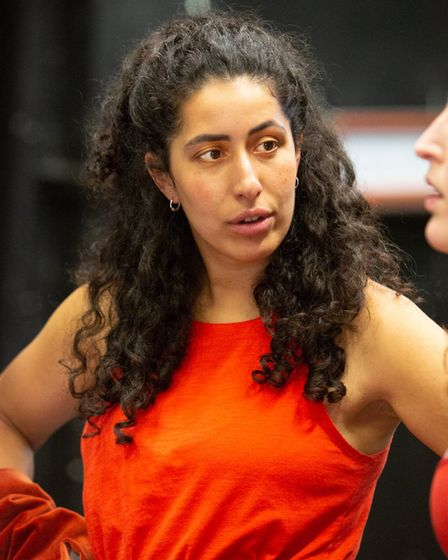 Lydia Bakelmun in rehearsals for Polstead, Eastern Angles summer tour which tells the story of Maria