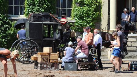 A number of scenes for a new star-studded David Copperfield film featuring Dev Patel, Peter Capaldi,