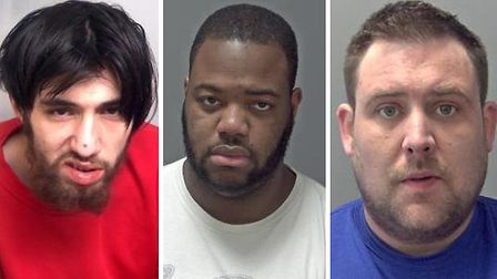 (L-R) James Mamali, Kashief Laidley and Ashley Braham. Pictures: ESSEX POLICE/SUFFOLK CONSTABULARY