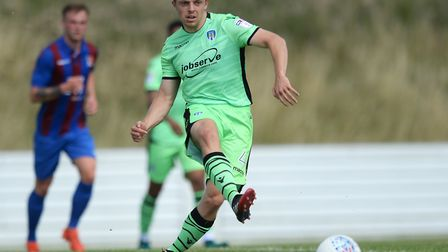 Tom Lapslie on the attack during the U's friendly at Maldon & Tiptree last summer. Picture: RICHARD