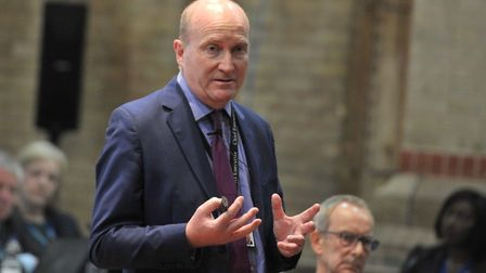 Ipswich and Colchester hospitals boss Nick Hulme says NHS investment is not enough Picture: SARAH LU