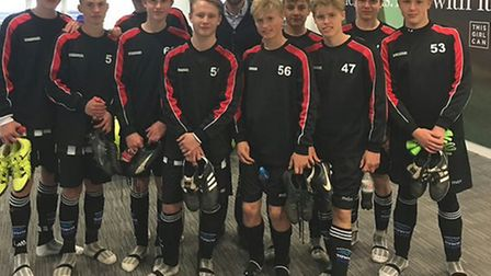 Gareth Southgate and Woodbridge U16s at St George's Park in 2016 Photo: CONTRIBUTED
