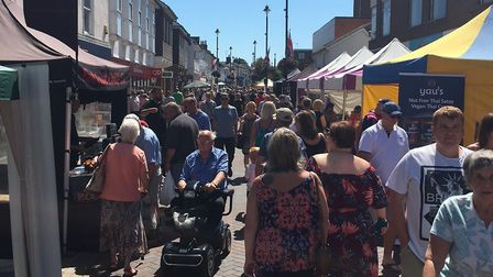 The first Stowmarket Food and Drink Festival Picture: STOWMARKET TOWN COUNCIL
