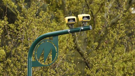 Average speed cameras on the A12 between East Bergholt and Stratford St Mary. Picture: GREGG BROWN