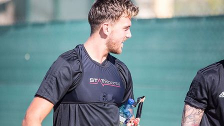 Emyr Huws is with the Ipswich squad in Spain as he continues his recovery from injury. Picture: ITFC