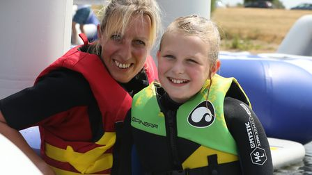 All smiles on the new Aqua Park Suffolk Picture: SPOTTYDOG COMMUNICATIONS