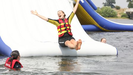 Sliding fun at Aqua Park Suffolk, which is now open Picture: SPOTTYDOG COMMUNICATIONS
