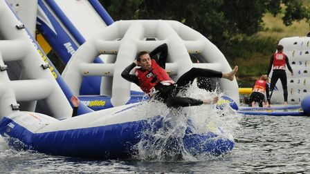 The inflatable Aqua Park is open for nine weeks over the summer. Picture: AQUA PARKS GROUP