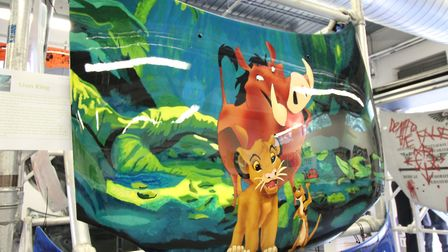 Suffolk New College. The winning Lion King car bonnet design by Nicole Paternoster