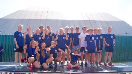 The winners of the sporting competition at the Take Your Place event Picture: TAKE YOUR PLACE