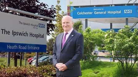 Ipswich and Colchester hospitals are merging. Pictured is Nick Hulme, chief executive of both trusts