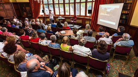 Author Patrick Barkham during his talk at the Felixstowe Book FestivalPicture: STEPHEN WALLERwww