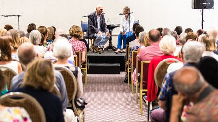 A full house for the talk by author Vince Cable at the Felixstowe Book FestivalPicture: STEPHEN WA