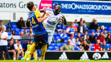 Roland Lamah played on trial for Ipswich in a friendly against Belgian side Royale Union Saint-Gillo