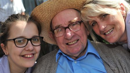 Amy Sharpe, Douglas Hailstone and Tracy Aves at Davers Court's summer fete Picture: LUCY TAYLOR