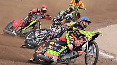 Ryan Kingsley leads. It was another good afternoon for him and the Fen Tigers Photo: CAROL DOWNIE