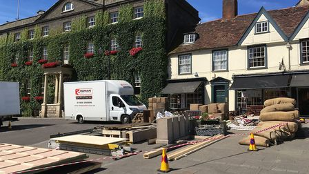Film crews are already setting up in Bury St Edmunds Picture: MICHAEL STEWARD