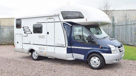 The motorhome that was stolen from Newmarket Picture: SUFFOLK POLICE