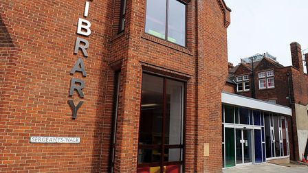 Bury St Edmunds library. Picture: PHIL MORLEY
