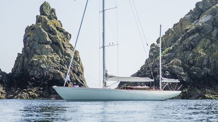Spirit Yachts' DH63 at anchor Picture: MIKE JONES