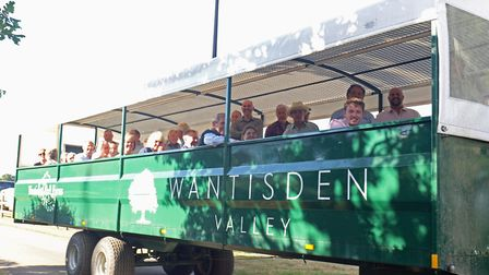 Farmers from Suffolk and Norfolk set out on their tour of Wantisden Hall Farms Picture: ANDY NEWMAN