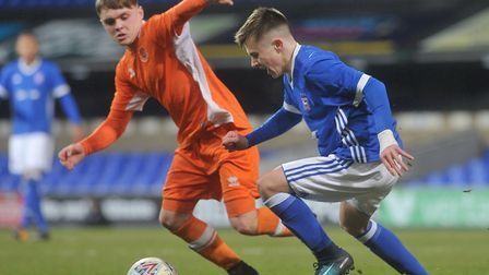 Ipswich Town youngster Ben Knight is set to join Manchester City for �1m. Photo: Sarah Lucy Brown