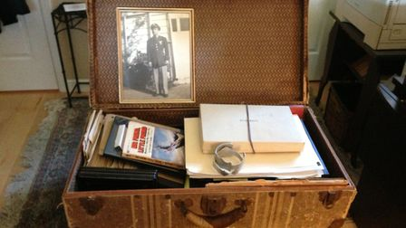 US pilot Robert Silva's suitcase at Boxted Picture: CONTRIBUTED