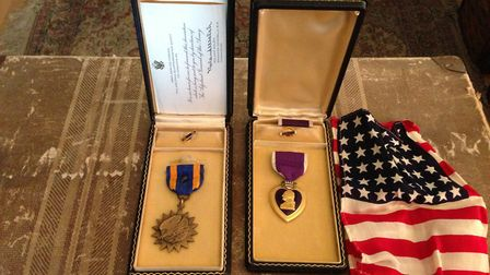 US pilot Robert Silva's medals at Boxted Picture: CONTRIBUTED
