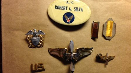 US pilot Robert Silva's insignias at Boxted Picture: CONTRIBUTED