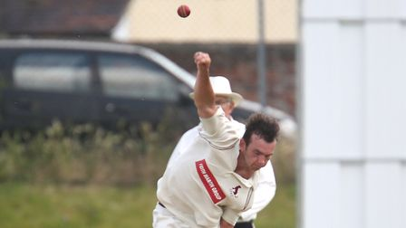 Dustin Melton, who bowled impressive in Sudbury's dominant display at Norwich. Picture : RICHARD MAR