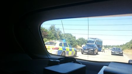 Eight people taken to hospital following bus and lorry collision Picture: @Sammii_Cake