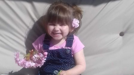 Ava-May Littleboy, who died after being thrown from a trampoline in Gorleston. PHOTO: Littleboy fami