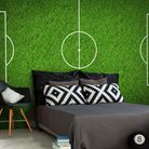 A Pitch A Perfect Scheme Football Pitch Wall Mural, from �30 per square metre, Wallsauce. Picture