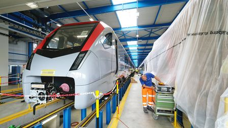 A new Bi-mode trains nearing completion at Stadler's Swiss factory Picture: NICK STRUGNELL/GREATER A