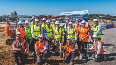 Construction on the new multi-million pound waste facility on the outskirts of Bury St Edmunds has b