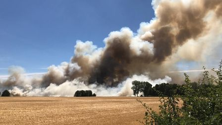 One of the crop fires tackled previously by Suffolk firefighters Picture: ARCHANT