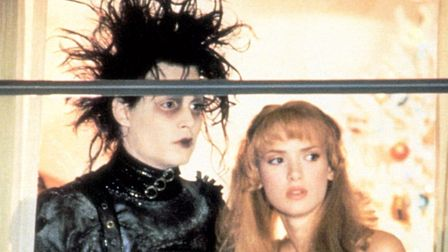 Johnny Depp stars as Edward Scissorhands with would-be girlfriend Kim, played by Winona Ryder. Photo