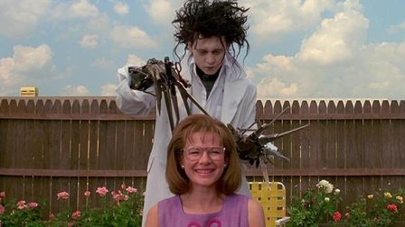 Johnny Depp's Edward Scissorhands discovers a talent for hairdressing. It co-stars Dianne Wiest as P