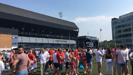 Hundreds turned out to watch England take on Sweden Picture: KATY SANDALLS
